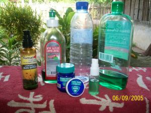 Products I blend to keep mosquitoes from biting me-- it works!